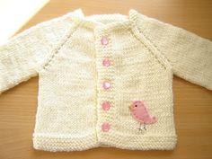 Emiza 'Sevgiyle yapılan el sanatları': Örgü bebek hırkası / Knitted baby cardigan