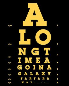 This is not the eyechart you were looking for. but aren't you glad you found it?