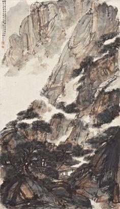 fu, baoshi pavilion in the sol Asian Landscape, Chinese Landscape Painting, Chinese Painting, Chinese Art, Landscape Paintings, Nanjing, Background Drawing, Turkish Art, Environmental Art