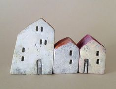 mini houses, good idea for kids' art projects