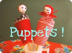 I remembering having puppets like these as a kid. I haven't seen them in forever. I love them. Here is an easy tutorial.