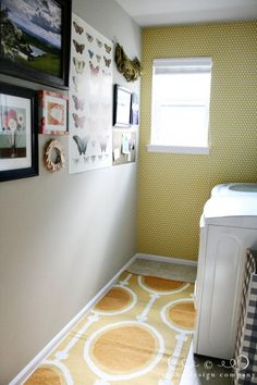 hang art in the laundry room