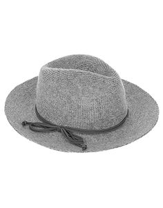 Our fedora hat will add sophisticated twist to your seasonal garb. Crafted with a snug wool blend, this piece is finished with suede-like trim.