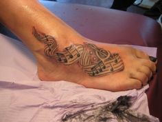 Incredibly painful tattoo on foot