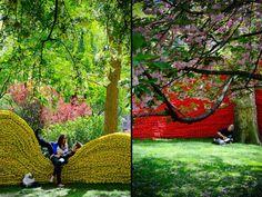 «Red, Yellow and Blue» («Красный, жёлтый, синий») - яркая пространственная композиция в парке Мэдисон-сквер (США)