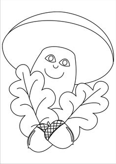 Veselá houba Fall Crafts, Crafts For Kids, Felt Patterns, Autumn Activities, Adult Coloring Pages, Easter Eggs, Stencils, Projects To Try, Symbols