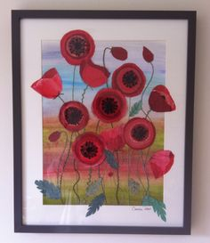 Poppies - mixed media by Christine Pettet Art Visit www.facebook.com/christinepettetart