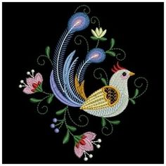 Decorative Birds 11 - 3 Sizes! | What's New | Machine Embroidery Designs | SWAKembroidery.com Ace Points Embroidery