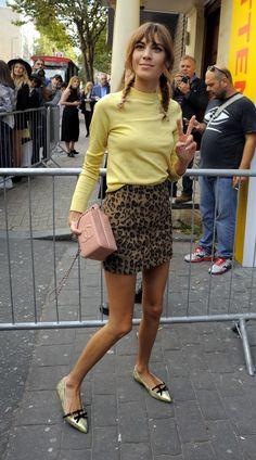 Desde el front row - Falda de leopardo, ¿midi o mini?