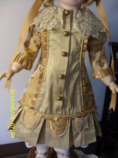 Doll Dress and Bonnet for Antique French BEBE Jumeau German Kestner   eBay