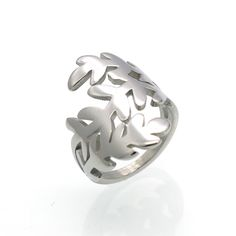Mopera Brand Cocktail Party Rings For Woman Stainless Steel Gold Colors Leaf Hollow Out Female Rings Engagement Wedding Jewelry-in Rings from Jewelry & Accessories on Aliexpress.com | Alibaba Group