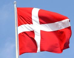 The Danish flag that, according to legend, dropped from the sky in 1208 in Tallin, Estonia during a battle where the Danes were losing. When the flag dropped from the sky, the luck of the Danes changed and they won the war (and a flag)