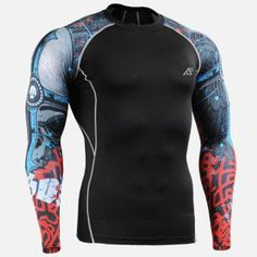2016 MUSCLE4MUSCLE 3D Compresson Long Sleeve Top