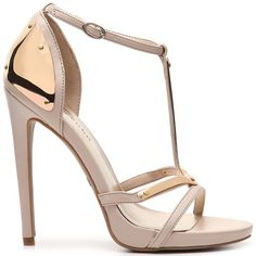 "Zigi Soho ""Midway"" Gold-Plated Sandals"