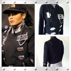 #Janet Jackson #RhythmNation costume (on right) Made by @LorryinLA (twitter  sc 1 st  Pinterest & Vintage Video: Janet Jackson u201cRhythm Nationu201d   Fun facts   Pinterest ...