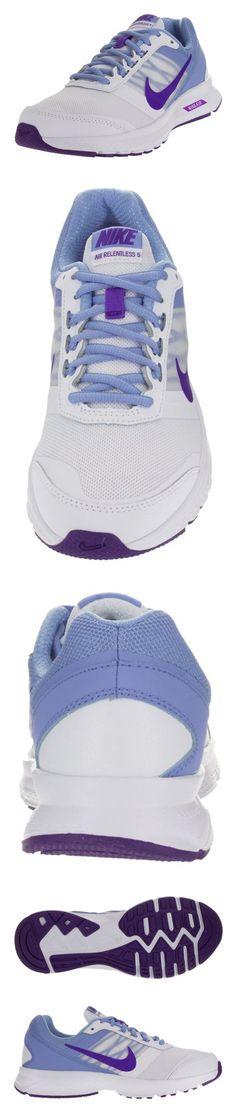 buy online 89154 e2f23  100 - Nike Women s Air Relentless 5 White Frc Purple Chlk Bl White Running  Shoe 11 Women US  shoes  nike  2015