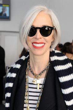 Linda Fargo - seen Around Lincoln Center Day 2 - Fall 2011 Mercedes-Benz Fashion Week . <3 her sunnies