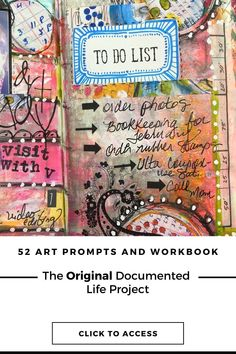 Get access to the Original Documented Life Project prompts Art Journal Prompts, Life Journal, Art Journal Techniques, Art Journal Pages, Art Journals, Journal Ideas, Altered Books, Altered Art, Art Challenge