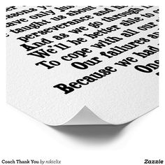 Shop Coach Thank You Poster created by nikiclix. Football Coach Quotes, Coach Appreciation Gifts, Thank You Poster, Custom Posters, Custom Framing, Favorite Quotes, Coloring Books, Reflection, Print Design