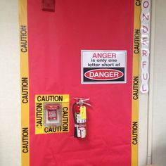 Fire safety caution bulletin board