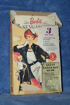 "Vintage Barbie Sew-Free Fashion Fun ""Day 'N Night"" Stock #1723:200 Complete 1963"