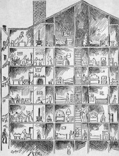"""Section of a New York Tenement House. 