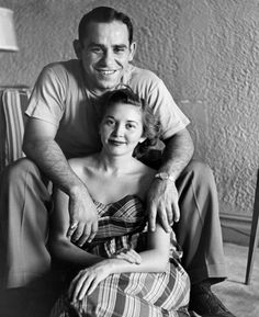 Yogi Berra and his wife for 65 years, Carmen. 1949
