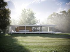Farnsworth House / Mies van der Rohe (rendering: Peter Guthrie on flickr)