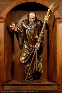 ALONSO BERRUGUETE: San Benito de Nursia. Pertenece al retablo de San Benito de Valladolid, hoy en el Museo Nacional de Escultura.