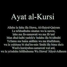 Ayat al- Kursi ❤ Quran Quotes Inspirational, Islamic Love Quotes, Muslim Quotes, Religious Quotes, Arabic Quotes, Prophets In Islam, Islam Hadith, Islam Quran, Allah Islam