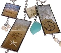 Jewelry with Sand Writings.