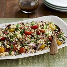 Bulgur wheat salad - New Site Healthy Dishes, Healthy Salad Recipes, Veggie Recipes, Vegetarian Recipes, Healthy Meals, Healthy Eating, Veggie Meals, Free Recipes, Clean Eating
