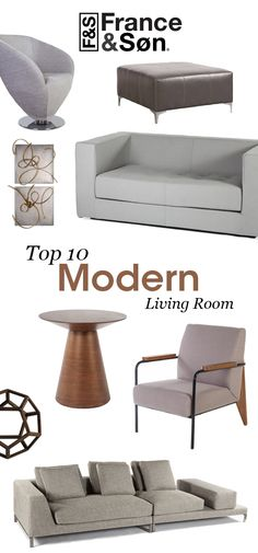 Modern Living Room by France and Son: France and Son's carefully curated collection of modern living room furniture is sourced to give luxury modern design at an affordable price point without sacrificing quality. These modern living room products are built to last, and built to look great while doing it.