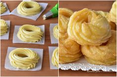 Impasto per Zeppole Fritte di S Giuseppe Ricetta per DOLCI Cookie Recipes, Dessert Recipes, Desserts, Baked Doughnuts, Italy Food, Sweet Pastries, Italian Cookies, Finger Foods, Sweet Recipes