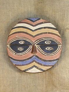 African Masks - Teke Mask 26 - Front - Click to return to the top of the page.