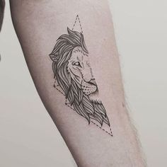 Amazing lion tattoo