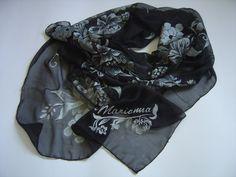 RISERVATO: Sciarpa di chiffon in seta dipinta a di AdeleDaniele