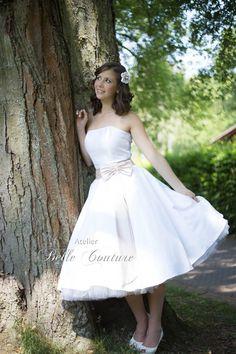 Brautkleider - Schlichtes Petticoat-Brautkleid