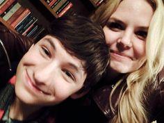 "Jennifer Morrison: ""Day 58: hanging with dear sweet Henry Jared Gilmore on set!! #101Smiles #UglyDucklings"""