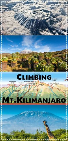 Ultimate guide to climbing Kilimanjaro mountain; different routes budget accommodation prices packing tips gear itinerary. 5 day trek to the highest peak in Africa. Trekking, Kenya, Mount Kilimanjaro, Travel Articles, Africa Travel, Travel Guides, Travel Tips, Travel Hacks, Camping Hacks