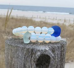 Unbroken Bracelet by Wave of Life Sea Glass Water by WaveofLife
