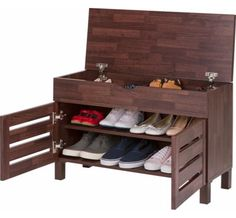 Slatted Hallway Bench - Shoe Cupboards | Shoe Storage Benches | Shoe Cabinets