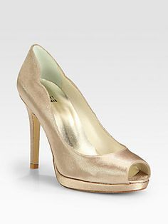 Stuart Weitzman Dippy Satin Pumps