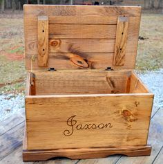 Large Kids Toy Chest Wooden Chest Keepsake by CountryBarnBabe
