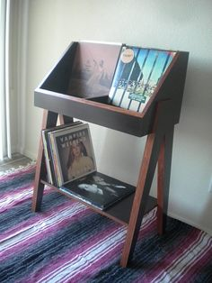 Custom vinyl record display stand and storage. Holds 400+ LP's.
