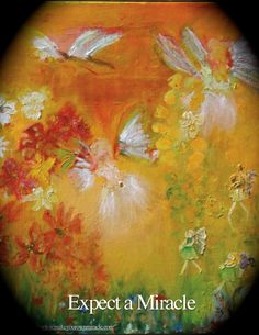 Fairies in my Garden on a sunny day by Joan Hangarter