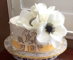 Rustic Chic Bridal Shower Cake