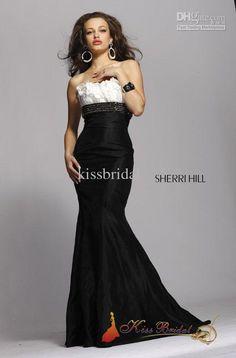 black white obre wedding dresses  White and Black Ombre Chiffon ...