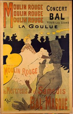 Henri de Toulouse-Lautrec (1864-1901), Moulin Rouge, La Goulue, Designmuseum Danmark, The Prints and Drawings Collection. Photo: Pernille Klemp, 1891, Poster, lithograph, 1955 x 1240 mm.