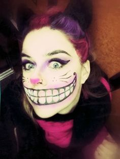Cheshire Cat Makeup - Bored!